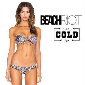 NWT STONE COLD FOX x BEACH RIOT Bandeau Bikini Set